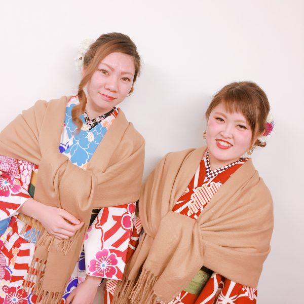 祇園店 2月7日本日の着物レンタルのお客様です^^